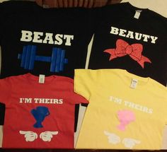 Check out this item in my Etsy shop https://www.etsy.com/listing/466003921/set-of-4disney-family-shirtsbeauty-and