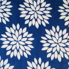 Ultra Fluffy Fabric- Mums Blue