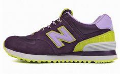 Joes New Balance 574 WL574BFF deep Purple Pink fashionista candy style Womens Shoes