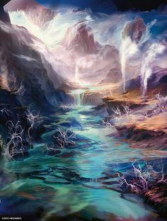 """Polluted Delta"" Magic the Gathering full art Zendikar Expeditions land"