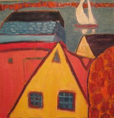 In Private Collections | 32: Fauvist Modern Milton Avery primitive naive art abstracted landscapes stilllifes Jill Finsen Paintings