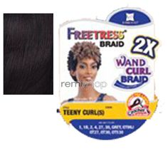 Freetress 2X Teeny Curl (S) - Color OT99J - Synthetic Braiding