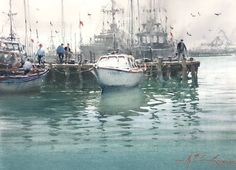 Watercolor Artists, Watercolor Paintings, Joseph Zbukvic, He Is Able, Around The Worlds, Sketches, Photo And Video, Landscape, Gallery