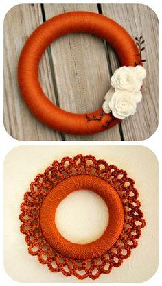 50 Beautiful Yarn Craft Tutorials {yarn wreaths, pom poms, decor ...