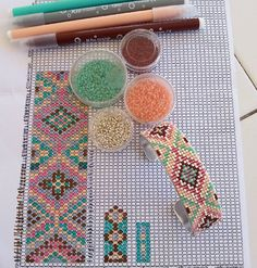 Image gallery – Page 517773288409033223 – Artofit Bead Loom Patterns, Bracelet Patterns, Beading Patterns, Loom Bands, Seed Bead Jewelry, Beaded Jewelry, Bead Crafts, Jewelry Crafts, Motifs Perler