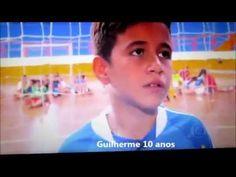 Gui Camisa 10 , dando entrevista ao Globo Repórter
