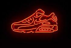 Neon Nike Shoes, Nike Neon, Shoes Wallpaper, Nike Wallpaper, Nike Air Max, Air Max 90, Orange Aesthetic, Neon Aesthetic, Nike Running Shoes Women