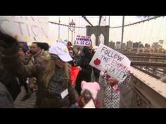 A group called One Million Moms for Gun Control walked over the Brooklyn Bridge Monday to show support for ending gun violence. Over three-hundred people joined organizers to draw attention to the issue. (Jan. 21)