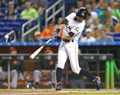 Suzuki passes Babe Ruth in all-time hits -  The Miami Marlins' Ichiro Suzuki hits a single in the second inning against the Baltimore Orioles on Friday, May 22 at Marlins Park in Miami. Suzuki passed Babe Ruth on the all-time hits list. - © David Santiago/El Nuevo Herald/TNS/Getty Images