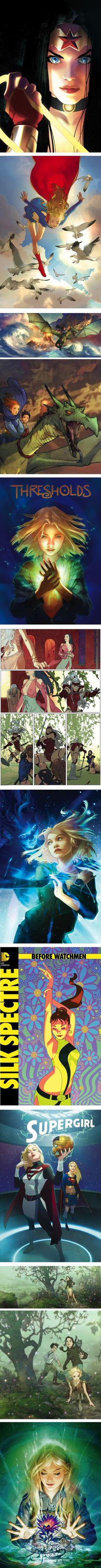 Joshua Middleton, comics, covers, illustration