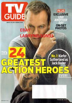 TV GUIDE MAGAZINE JUNE 2014 KIEFER SUTHERLAND 24 LIVE ANOTHER DAY BIG BANG THEOR