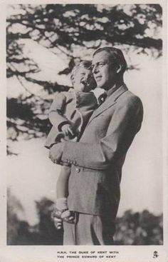 Prince George, Duke of Kent with his son Edward, present Duke of Kent