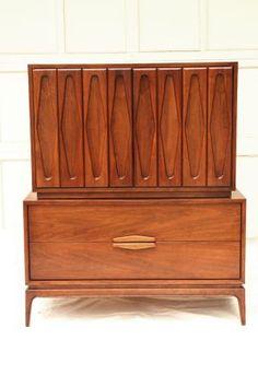 Philadelphia: Mid Century Modern 70u0027s High Boy 5 Drawer Dresser Credenza  $675   Http: