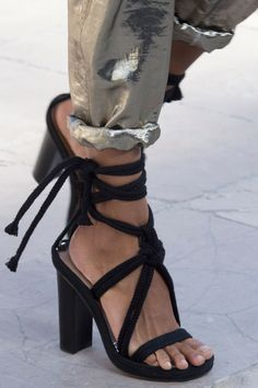 Isabel Marant tied black heels