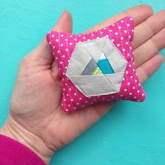 CUTEST tiny paper piecing patterns!!!  LOVE the mountains!!! Tiny Toffee Designs