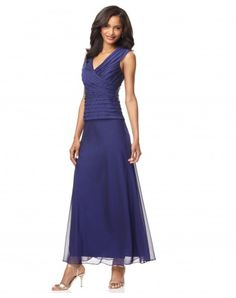 Like the length for my dress alterations - $112.99Sleeveless Ankle-length V-neck Chiffon Mother of the Bride Dress