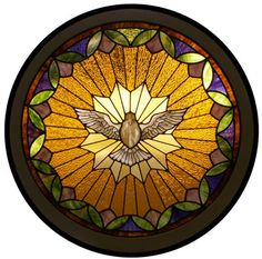 """holy spirit dove                        stained glass """"Holy Spirit"""""""