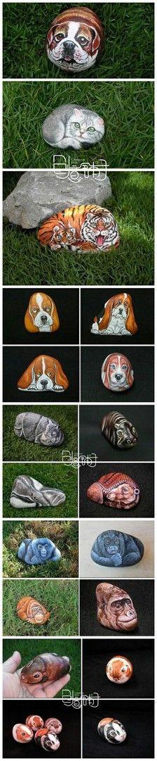 Painte Rocks -- 关于石头喜……_来自柠檬小呦的图片分享-堆糖网
