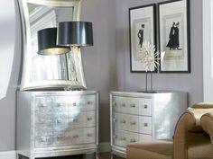 Rent the Silver Leaf Chest for your home: Home Furniture Rental by CORT Furniture
