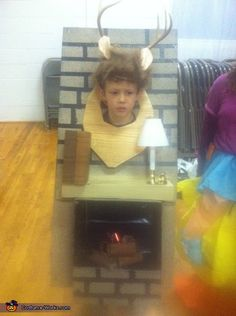 Deer Head over the Fireplace