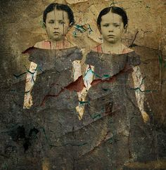 Mixed media altered/digital collage using an image from an old tintype./ by collage a day