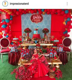 Disney's Elena of Avalor Birthday Party Dessert Table.