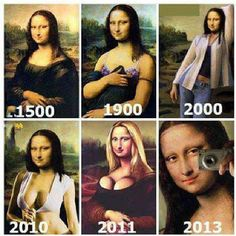 MonaLisa Time line #funny #faces #famous