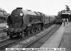Dorchester to Bournemouth Dorset Coast, Third Rail, The Dorchester, Southern Railways, Merchant Navy, British Rail, Bournemouth, Steam Engine, Southampton