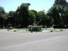 Fountain in the Villa Borghese Gardens, via Flickr.