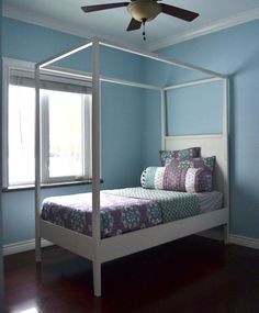 Ana White | Build a Hannah Canopy Bed | Free and Easy DIY Project and Furniture Plans