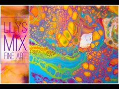 Pouring a Painting using 100% Acrylic House Paint - Valspar Signature vs. my usual Glidden Diamond - YouTube