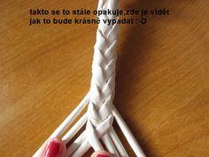 Tutorial - how to weave an 8 strand braid - Moje pletení z papíru - Fotoalbum - NÁVOD - NA NETRADIČNÍ PLETENÍ - NÁVOD - NA OKRASNÉ UCHO