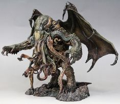 Cthulhu Great Old Ones Unpainted GK Garage Resin Figure Model Kit Creature Feature, Creature Design, Lovecraftian Horror, Eldritch Horror, Zbrush, Creature Concept, Figure Model, Horror Art, Funny Art