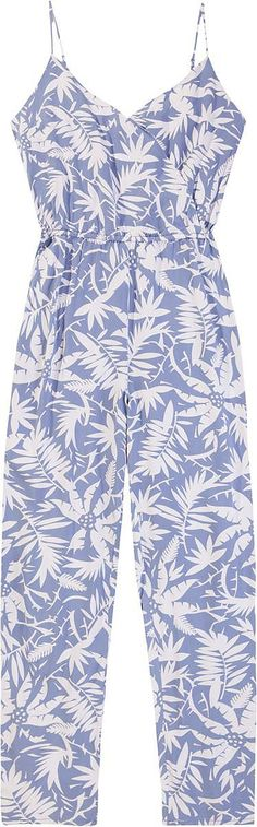 Sehr lässiger und cooler Jumpsuit DORA von Tommy Hilfiger im luftige Flower-Print. Spaghettiträgern, V-Ausschnitt und Kordelzug in der Taille runden das Outfit gekonnt ab.100% Viskose...