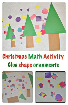 Glue shape ornaments and learn about shapes and sizes.