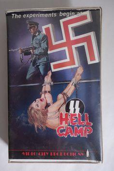 VIDEO CITY vhs SS HELL CAMP aka Beast In Heat Big Box Nazi Exploitation Movie