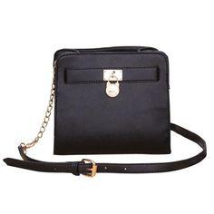 Michael Kors Hamilton Lock Medium Black Crossbody Bags, Your First Choice