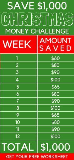 Savings Challenge Sheet | My Family | Pinterest | Savings ...