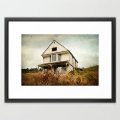 #abandoned Framed Art #Print #house #relic #landscape