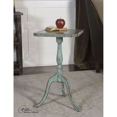 Uttermost Valent Blue Accent Table 25586