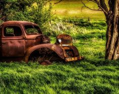 Last Stop. Fine Art Rural Photography Print Rural Life Home Decor Wall Art. Often seen in rural areas, the trusty farm truck that has run it's last. I always wonder how many miles, how many cargoes. What has that rusty old truck seen? Produce to market, children to school, families to church, the farm truck sees it all. I came across this one in eastern Washington almost hidden in a grove of old trees. It sits there watching the traffic on the road and deer in the field. ~~ SELECT DESIRED...