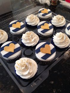 Nautical themed cupcakes with fondant toppers. Play Date Cupcakes in Hawaii.