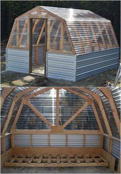 DIY Barn Style Greenhouse