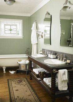 Love this Craftsman Bathroom