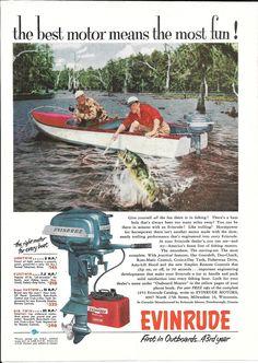 1953 Evinrude Motors Color Ad- The Big Twin Outboard Motor