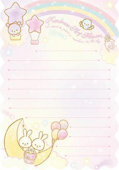 "Q-lia ""Kindness Sky Flavor"" Memo (Pink) Printable Scrapbook Paper, Printable Stickers, Printable Paper, Kawaii Wallpaper, Sanrio Wallpaper, Memo Notepad, Cute Notes, Kawaii Stationery, Note Paper"