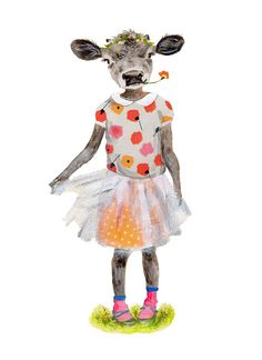 "Kartenset  3mal  ""Kuh Hilda"" von Tizia Hula auf DaWanda.com Harajuku, Etsy, Illustration, Style, Fashion, Cow, Playground, Heroes, Cards"