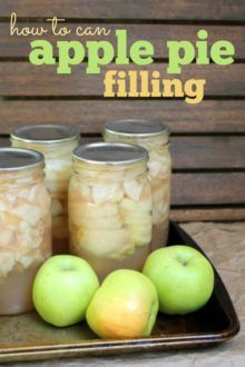 How to make and can apple pie filling: The perfect way to enjoy autumn's bounty year-round! Use the filling in a pie, crisp, cakes, muffins & more!