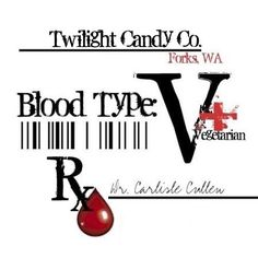 PRINTABLE TWILIGHT BLOOD TYPE PARTY FAVOR / CANDY LABEL