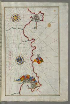 Map of the Algerian Coast From Algiers to Bejaia
